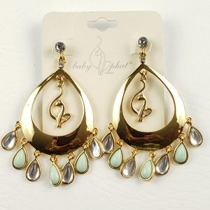 Baby Phat Gold Tone Drop Earrings